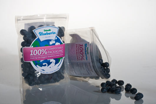Blueberries packaging